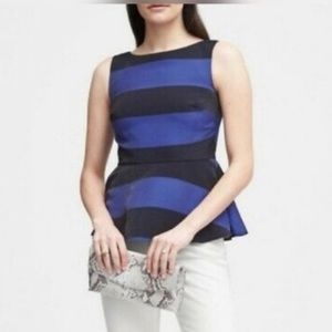 NWT Banana Republic Striped Peplum Top